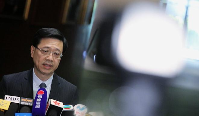 Secretary for Security John Lee made his comments on the detainees during a television interview. Photo: May Tse