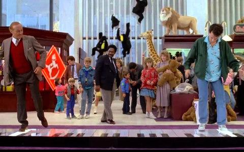 Tom Hanks playing the big keyboard in FAO Schwarz in 'Big'
