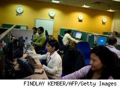 With sky-high unemployment rates, it's no wonder that the issue of offshoring -- such as to this call center in India -- has become such a hot topic.