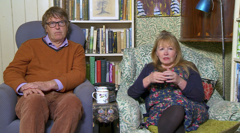 Mary and partner Giles on Gogglebox (credit Channel 4)