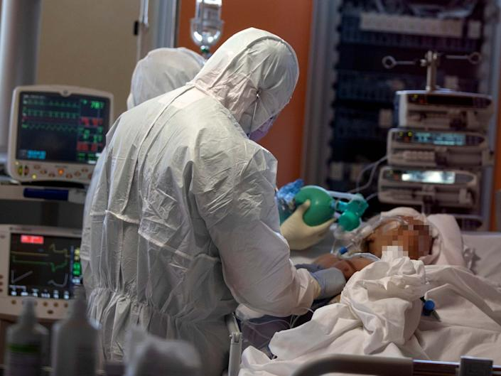 UK intensive care units are preparing for a surge in coronavirus cases in coming weeks: EPA