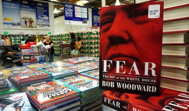 PHOTO: Bob Woodward's latest book 'Fear: Trump in the White House' is displayed for sale upon releaase at a Costco store in Alhambra, Calif., Sept. 11, 2018. (AFP/Getty Images)