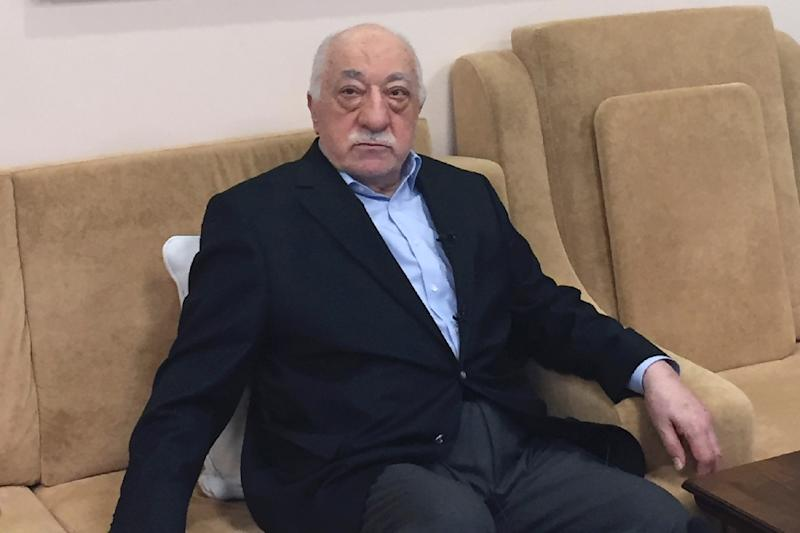 "Turkish cleric Fethullah Gulen, exiled head of the Islamic social movement that promotes schools like the Galaxy in Bangui. Living in the Unted States, he firmly rejects ""terrorist"" allegations of being behind a 2016 coup bid in Turkey. (AFP Photo/Thomas URBAIN)"