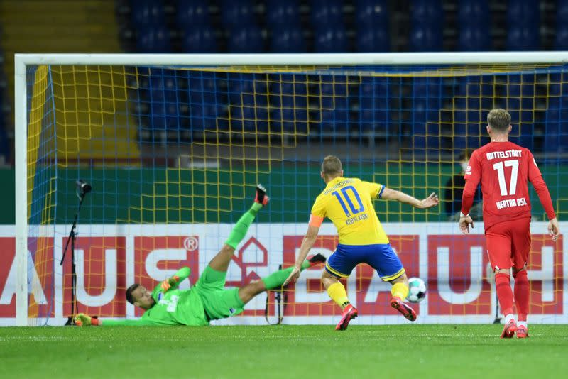 Second-tier Braunschweig edge past Hertha 5-4 in German Cup