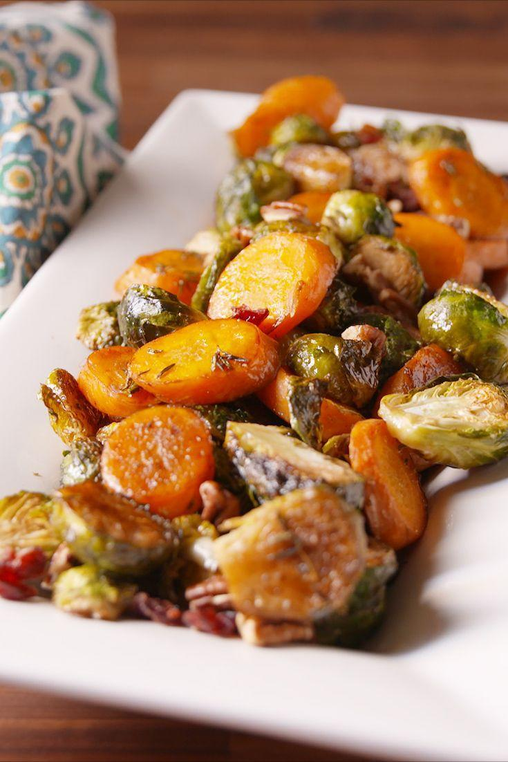 """<p>Do yourself a favor and skip the wilted green salad.</p><p>Get the recipe from <a href=""""https://www.delish.com/cooking/recipe-ideas/recipes/a50228/holiday-roasted-vegetables-recipe/"""" rel=""""nofollow noopener"""" target=""""_blank"""" data-ylk=""""slk:Delish"""" class=""""link rapid-noclick-resp"""">Delish</a>.</p>"""