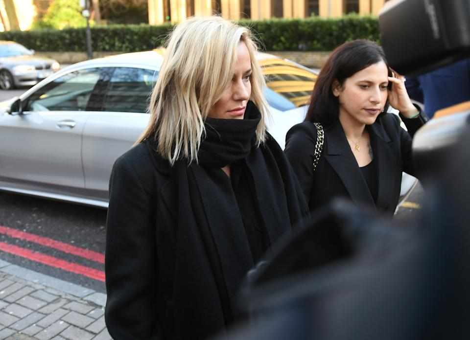 TV presenter Caroline Flack arrives at Highbury Corner Magistrates' Court charged with assault. (Photo by Joe Giddens/PA Images via Getty Images)