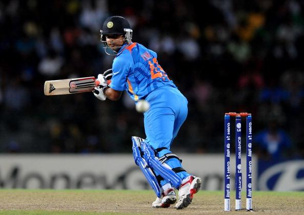COLOMBO, SRI LANKA - SEPTEMBER 28:   Suresh Raina of India bats during the super eight match between Australia and India held at R. Premadasa Stadium on September 28, 2012 in Colombo, Sri Lanka.  (Photo by Pal Pillai/Getty Images)