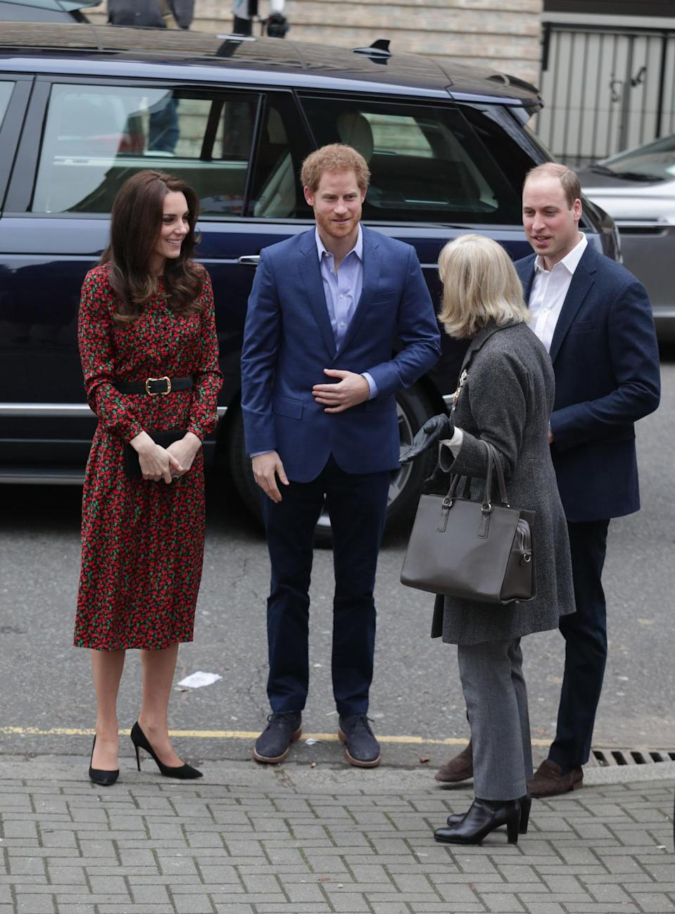 <p>Kate dressed for the festive period in a red-and-green printed midi design by Vanessa Seward. Costing £720, the Duchess wore the look to a charity Christmas party, pairing it with a waist-cinching belt and black heels. This is the first time she has worn the designer, adding yet another stylish name to her ever-growing wardrobe. </p><p><i>[Photo: PA]</i></p>