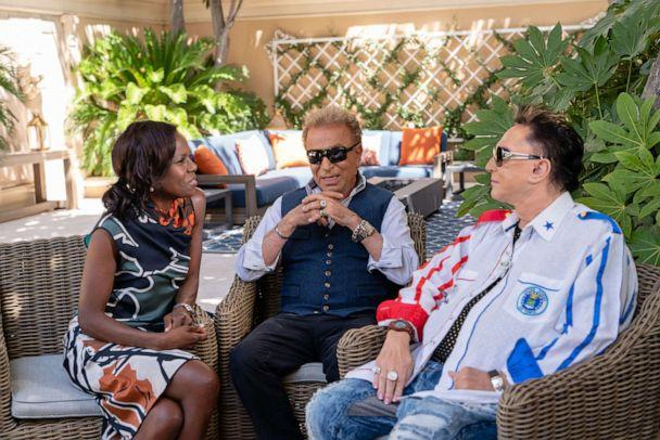 PHOTO: Famed entertainers Siegfried and Roy speak to ABC News in an exclusive interview. (Cashman Photo of Nevada)