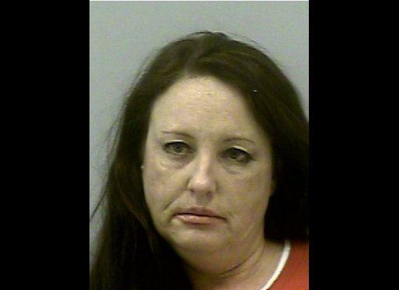 Jana Lawrence, 46, of Dacula, Ga., is accused of wreaking havoc at two restaurants Saturday, by groping, licking and flashing fellow patrons before being arrested.