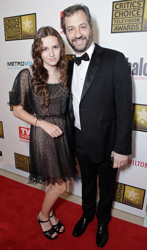 Maude Apatow and Judd Apatow attend the 2012 Critics' Choice Television Awards at The Beverly Hilton Hotel on June 18, 2012 in Beverly Hills, California.