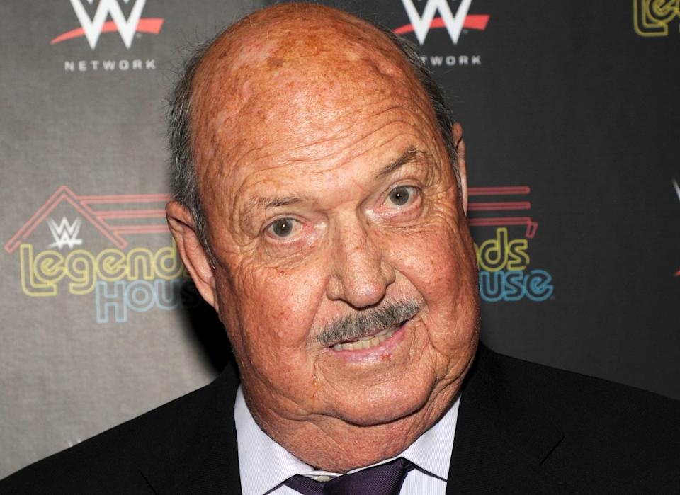 """World Wrestling Entertainment Hall of Fame announcer """"Mean"""" Gene Okerlund died on Jan. 2, 2019 at the age of 76."""