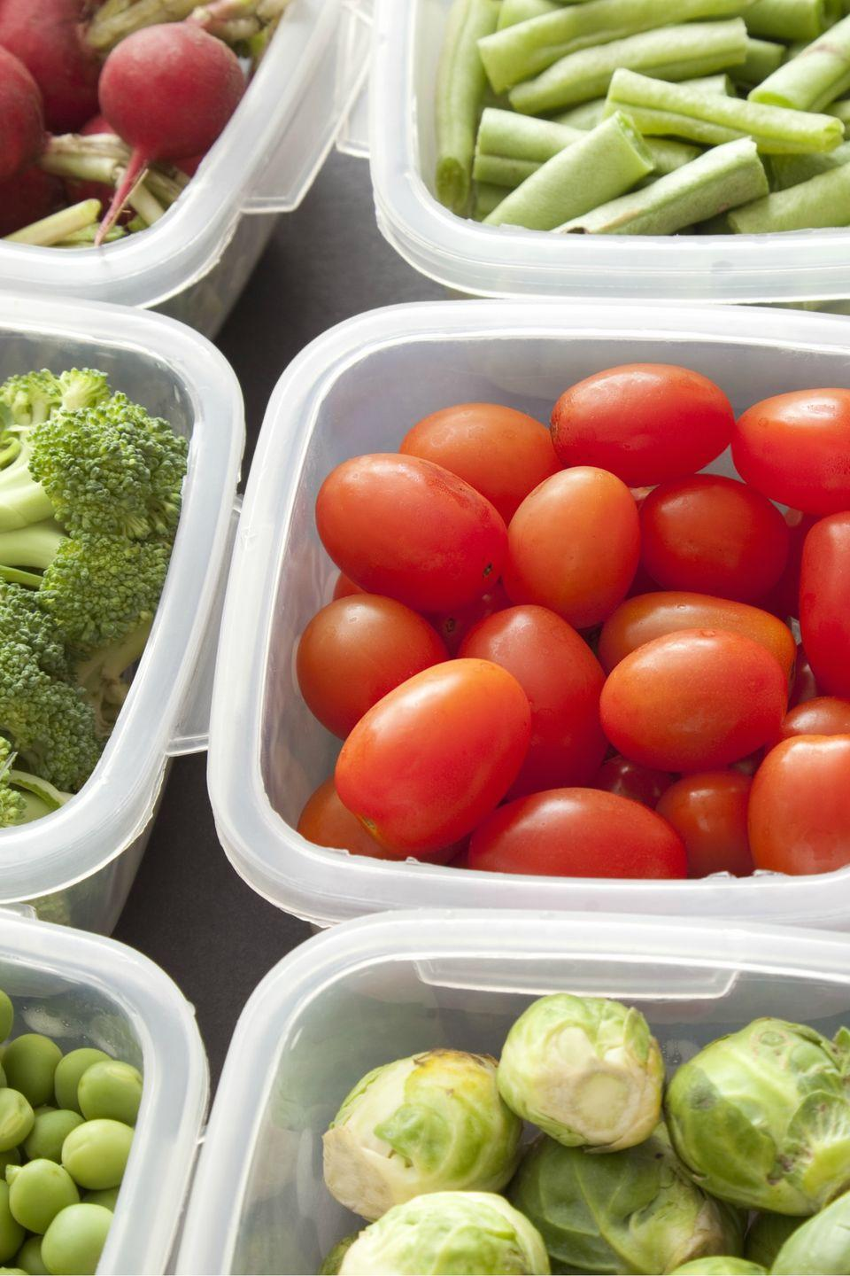 """<p>Trade round food storage containers for <span class=""""itxtrst itxtrsta itxthook"""">more efficient, stackable</span> square and rectangular ones, says DeBroff.</p><p><strong><a class=""""link rapid-noclick-resp"""" href=""""https://www.amazon.com/SHOMOTE-Containers-Stackable-Microwave-Dishwasher/dp/B08GCLRHCG/ref=pd_pb_ss_no_hpb_2/138-2633406-5587159?_encoding=UTF8&pd_rd_i=B08GCLRHCG&pd_rd_r=da65c664-5441-4670-9b01-ec7e07415885&pd_rd_w=Z42C2&pd_rd_wg=tQp7W&pf_rd_p=3afcde63-a32e-48e5-b3ee-3ab9288b96ca&pf_rd_r=3SEAENTZ9ZYE5107ZEYW&psc=1&refRID=3SEAENTZ9ZYE5107ZEYW&tag=syn-yahoo-20&ascsubtag=%5Bartid%7C10070.g.3310%5Bsrc%7Cyahoo-us"""" rel=""""nofollow noopener"""" target=""""_blank"""" data-ylk=""""slk:SHOP STORAGE CONTAINERS"""">SHOP STORAGE CONTAINERS</a></strong></p>"""