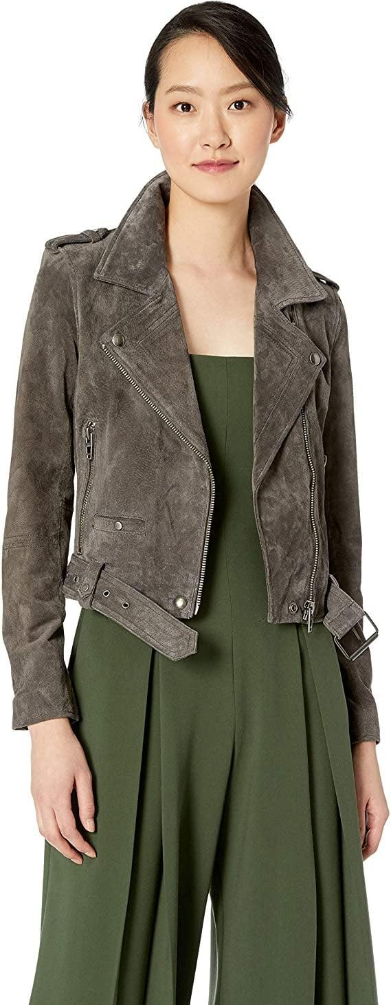 <p>This <span>BlankNYC Suede Moto Jacket</span> ($155) will be your go-to outerwear piece this season.</p>