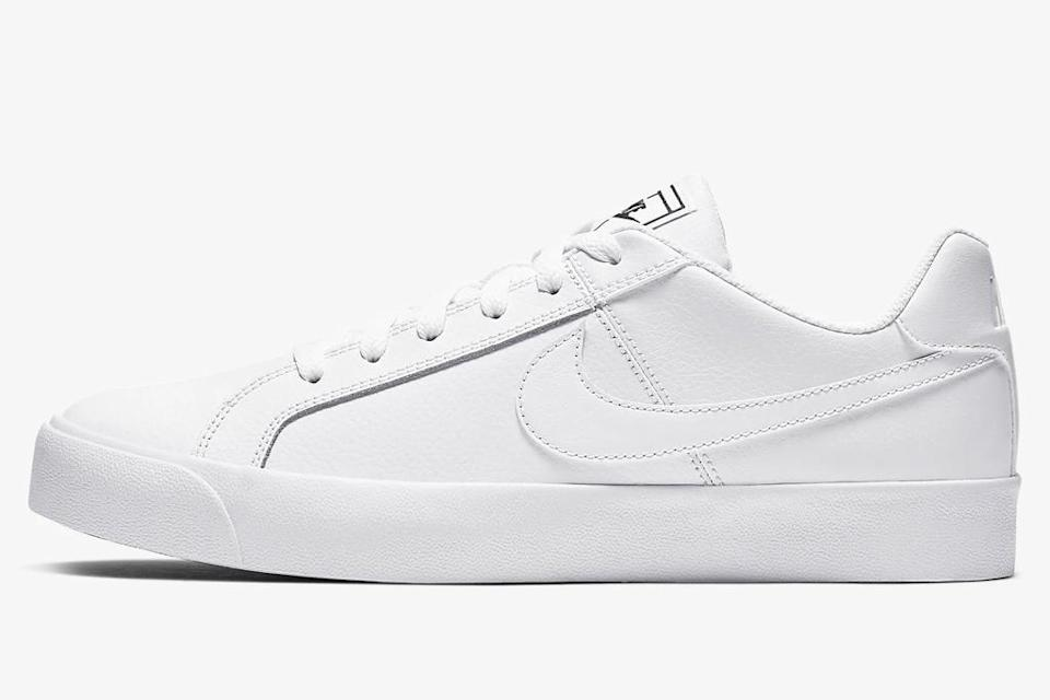 white sneakers, shoes, low-top, nike