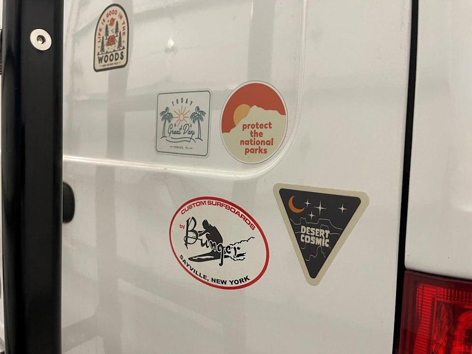 They appealed for anyone who had seen the van, which has distinctive stickers, to call a national hotline 1-800-CALLFBI (225-5324) (North Port Police)