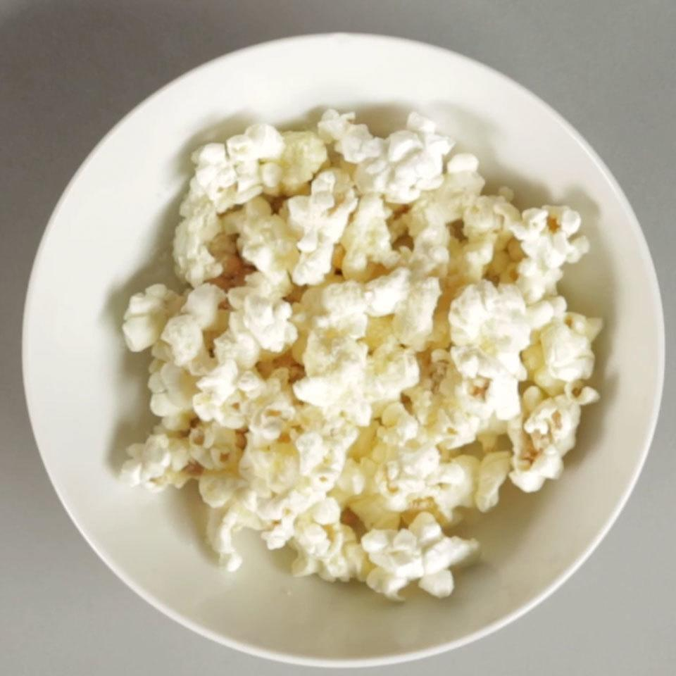 <p>Nutty, salty and incredibly crispy, this cheesy popcorn snack is simple to make and sure to be a favorite snack.</p>