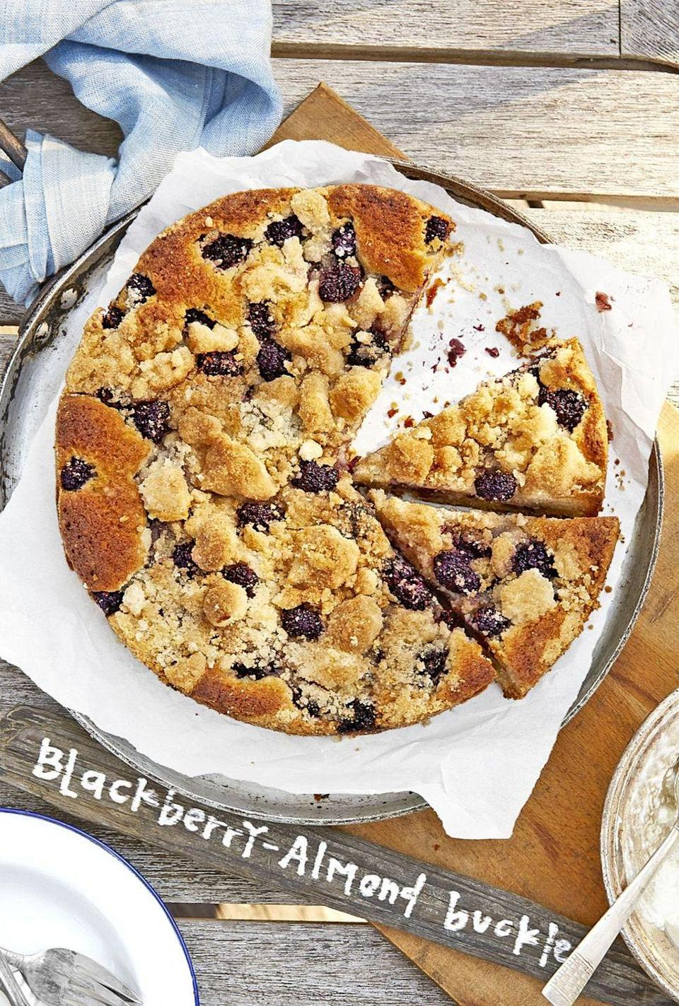 "<p>Serve each slice of this buckle with a heaping scoop of <a href=""https://www.countryliving.com/food-drinks/recipes/a3404/vanilla-ice-cream-recipe-clv0610/"" rel=""nofollow noopener"" target=""_blank"" data-ylk=""slk:vanilla ice cream"" class=""link rapid-noclick-resp"">vanilla ice cream</a>.</p><p><strong><a href=""https://www.countryliving.com/food-drinks/recipes/a43559/blackberry-almond-buckle-recipe/"" rel=""nofollow noopener"" target=""_blank"" data-ylk=""slk:Get the recipe"" class=""link rapid-noclick-resp"">Get the recipe</a>.</strong></p>"