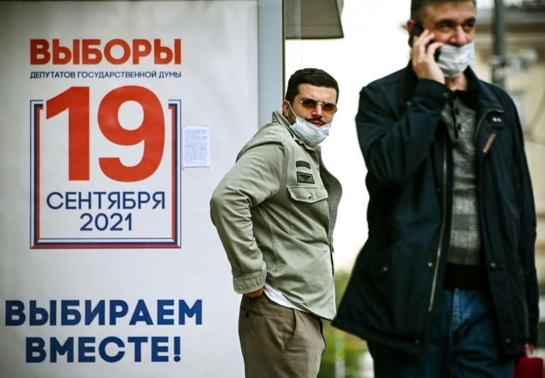 Vladimir Putin's United Russia party in recent years has become an easy target for voters frustrated by the country's struggling economy (AFP/Alexander NEMENOV)