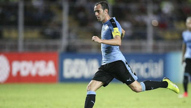 <p>The ever reliable Diego Godin will captain Uruguay to their 13th World Cup. Godin now has over 100 caps for his country. He has won one trophy in that time, which was the 2011 Copa America. </p> <br><p>He has also been a leader for his club. At Atletico Madrid, Godin has earned one La Liga title, a Europa League title, and has appeared at two Champions League finals.</p>