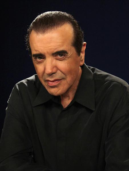 """This Aug. 27, 2012 photo shows actor Chazz Palminteri posing during an interview in New York. Palminteri is taking to the airwaves with """"Ask Chazz,"""" a four-week series of live, call-in shows on SiriusXM Radio, where callers can seek advice on a variety of topics including the entertainment business and relationships. (AP Photo/John Carucci)"""