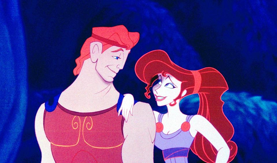 """<p>Did I include <em>Hercules</em> on this list because this hero is my Disney crush? Maybe. But the movie is also a genuinely entertaining take on this mythological character's story, with a crop of songs that demand to be performed by drag queens. Also, Meg's super-long ponytail? An absolute serve. </p> <p><a href=""""https://www.amazon.com/Hercules-Voices/dp/B003SI3URQ/"""" rel=""""nofollow noopener"""" target=""""_blank"""" data-ylk=""""slk:Available for rent on Amazon Prime Video"""" class=""""link rapid-noclick-resp""""><em>Available for rent on Amazon Prime Video</em></a></p>"""
