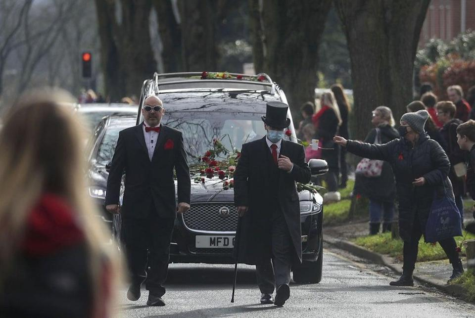 The funeral of Olly Stephens in Reading, Berkshire (Steve Parsons/PA) (PA Wire)