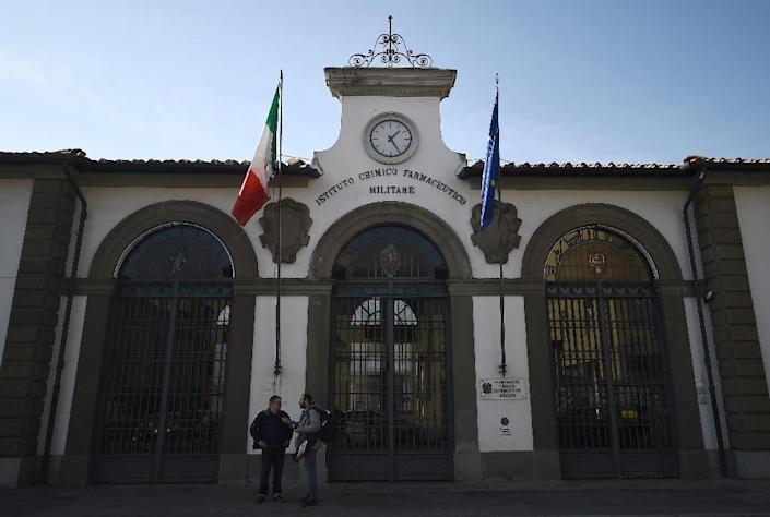 The Military Chemical and Pharmaceutical institute (ICFM) building in Florence where the Italian Military's Cannabis Project Team grows marijuana for medical use (AFP Photo/FILIPPO MONTEFORTE)