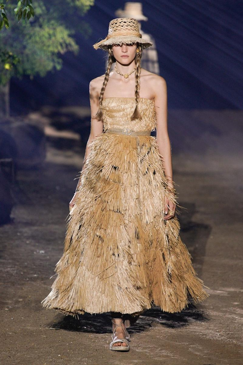 Raffia was woven into Dior's nature-themed Spring 2020 show.