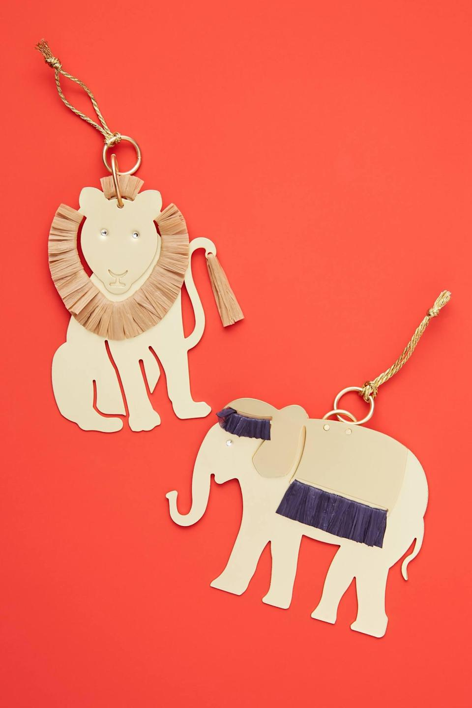 """<p>Give your tree a worldly touch with the <a href=""""https://www.popsugar.com/buy/Majestic-Elephant-Ornament-490587?p_name=Majestic%20Elephant%20Ornament&retailer=anthropologie.com&pid=490587&price=22&evar1=casa%3Aus&evar9=46615300&evar98=https%3A%2F%2Fwww.popsugar.com%2Fhome%2Fphoto-gallery%2F46615300%2Fimage%2F46615458%2FMajestic-Elephant-Ornament&list1=shopping%2Canthropologie%2Choliday%2Cchristmas%2Cchristmas%20decorations%2Choliday%20decor%2Chome%20shopping&prop13=mobile&pdata=1"""" rel=""""nofollow noopener"""" class=""""link rapid-noclick-resp"""" target=""""_blank"""" data-ylk=""""slk:Majestic Elephant Ornament"""">Majestic Elephant Ornament</a> ($22).</p>"""