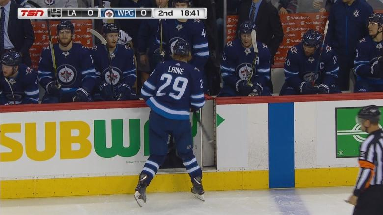 After blocking shot, Jets' Patrik Laine leaves game limping — but Maurice says he's OK