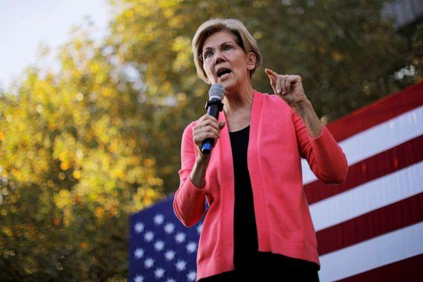 PHOTO: Democratic 2020 U.S. presidential candidate and U.S. Senator Elizabeth Warren (D-MA) speaks at a campaign rally at Keene State College in Keene, New Hampshire, Sept. 25, 2019. (Brian Snyder/Reuters)