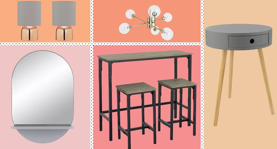 Argos launches new home range, which includes everything from breakfast tables, bedside tables, to beds, lighting, mirrors and cushions.  (Yahoo Style)