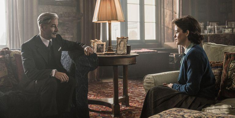 """<p>""""Peter Morgan's scripts for <em>The Crown</em> aren't full of prescriptive description,"""" production designer Martin Childs told <em><a href=""""https://www.architecturaldigest.com/gallery/set-design-and-filming-locations-of-the-crown/all"""" rel=""""nofollow noopener"""" target=""""_blank"""" data-ylk=""""slk:Architectural Digest"""" class=""""link rapid-noclick-resp"""">Architectural Digest</a></em>. """"I love them for a lot of things, and, as a designer, I especially love them for that. They tell the story in movement and dialogue, inviting me and my team to create a world in which that story can believably take place."""" </p>"""