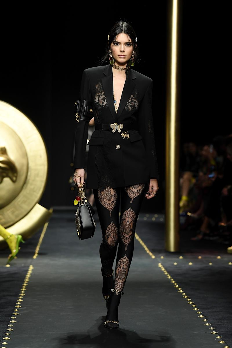 In a turn of events that was seemingly impossible two or so years ago, Kendall Jenner has been largely absent from the runway (and therefore hopefully free of Fashion Week anxiety). Versace's fall/winter 2019 was in fact the first she's walked so far this season, in February 2019.