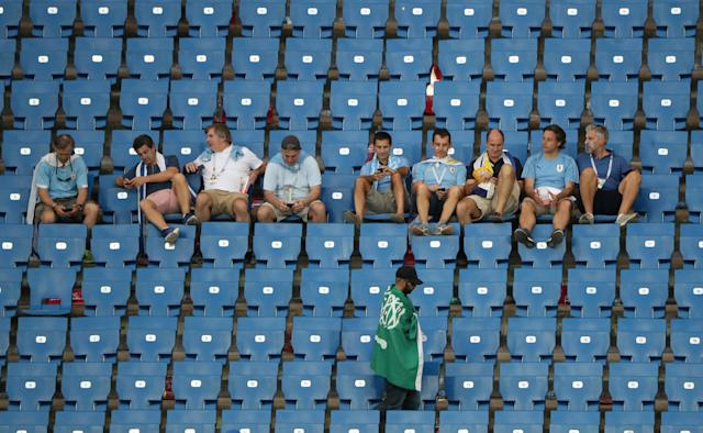 Soccer Football - World Cup - Group A - Uruguay vs Saudi Arabia - Rostov Arena, Rostov-on-Don, Russia - June 20, 2018 Fans after the match REUTERS/Marcos Brindicci
