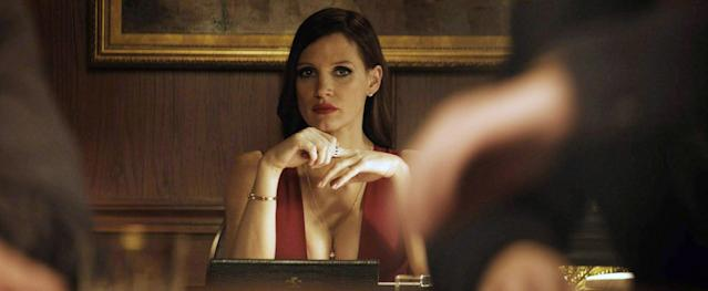 """Chastain as """"poker princess"""" Molly Bloom in <em>Molly's Game.</em>(Photo: STX Entertainment/Courtesy Everett Collection)"""