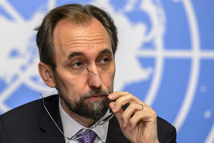 """UN High Commissioner for Human Rights Zeid Ra'ad Al Hussein voiced concerns over China's new national security legislation which seeks to make Internet infrastructure """"secure and controllable"""" (AFP Photo/Fabrice Coffrini)"""