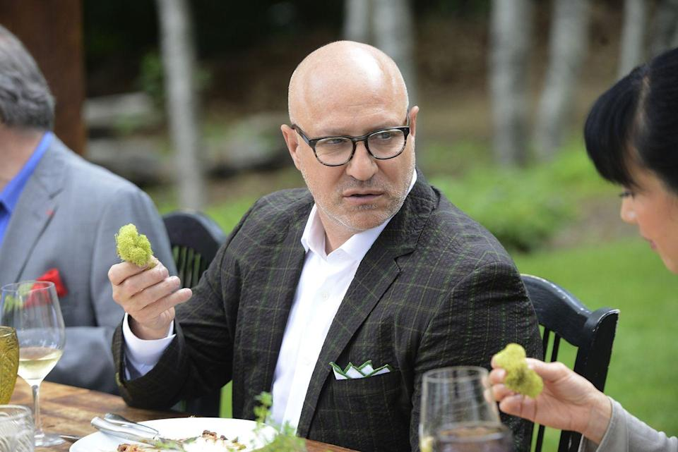 """<p>The judge has a stern rule against it. """"I would hire a lot of them, but I haven't and I won't, only because I don't want someone to say, 'so and so won because Tom wanted to hire them.' So I just stay out of it,"""" Colicchio told <a href=""""https://www.aol.com/food/tom-colicchio-padma-lakshmi-and-gail-simmons-spill-top-chef-secr/#slide=3435765#fullscreen"""" data-ylk=""""slk:AOL.com"""" class=""""link rapid-noclick-resp"""">AOL.com</a> in 2013.</p>"""