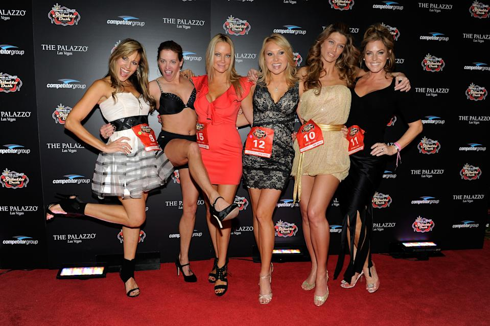 LAS VEGAS, NV - DECEMBER 03: (L-R) Lillian Garcia, Suzy Favor Hamilton, Barbara Moore, Alana Curry, Amber Smith and Sandra Taylor attend the Rock 'n' Roll Las Vegas Stiletto Dash at The Palazzo on December 3, 2011 in Las Vegas, Nevada. (Photo by David Becker/WireImage)