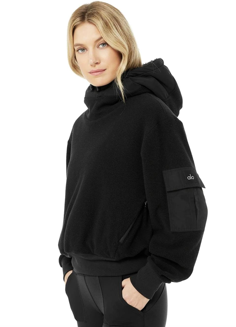 <p>As the days get colder, the fleece <span>Alo Yoga Chill Pullover</span> ($168) will keep you feeling toasty. If your ears start to get cold, all you have to do is pull up the sherpa-lined hood.</p>