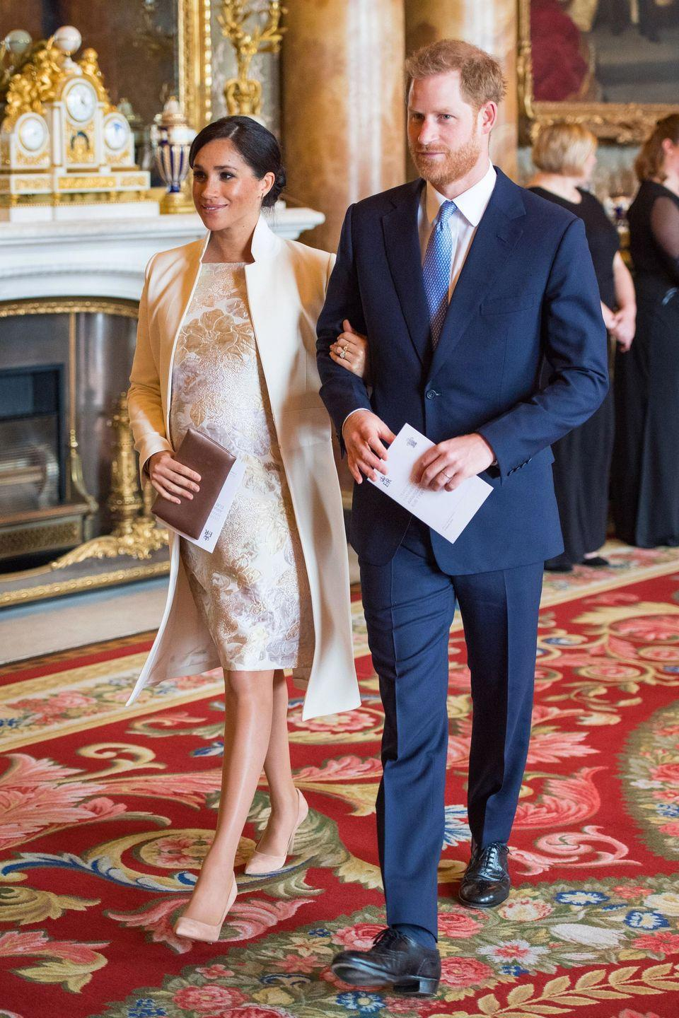 <p>The royals were on hand to mark the 50th anniversary of the investiture of the Prince of Wales at Buckingham Palace on March 5, 2019. </p>