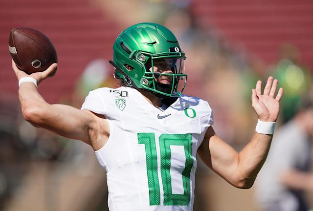 Oregon QB Justin Herbert has received some unfair criticism this season. (Getty Images)