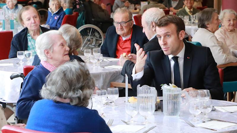 Coronavirus: Macron urges people to limit visits to elderly as death toll rises