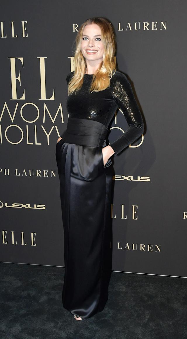 BEVERLY HILLS, CALIFORNIA - OCTOBER 14: Margot Robbie arrives at the 2019 ELLE Women In Hollywood at the Beverly Wilshire Four Seasons Hotel on October 14, 2019 in Beverly Hills, California. (Photo by Amy Sussman/FilmMagic)