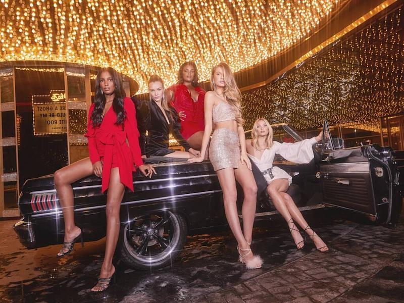 Elsa Hosk and Jasmine Tookes star in Boohoo's 2019 holiday campaign