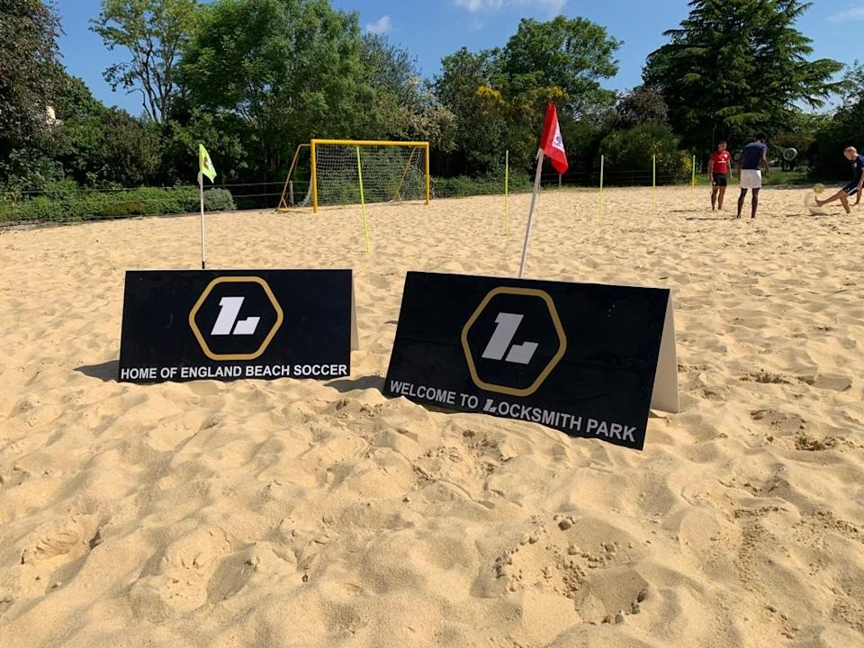 Locksmith is part of theUK music group Rudimental and has become a huge fan of beach football in recent years