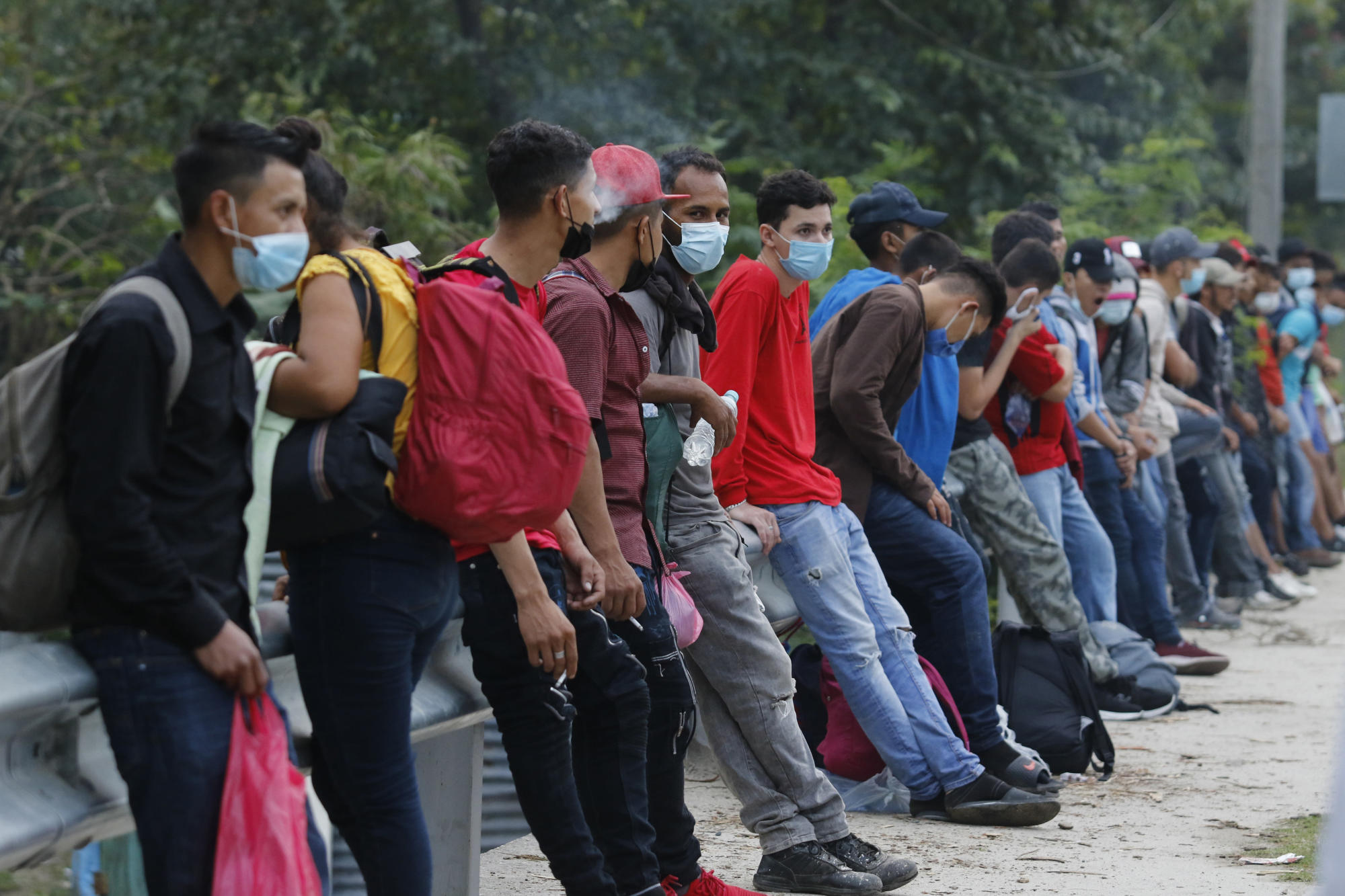 Migrant caravan on the move in Honduras in uncertain times