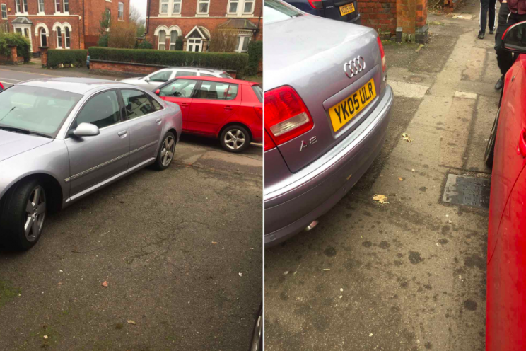 Arrogant: The driver had parked on the driveway belonging to other people (Caters)