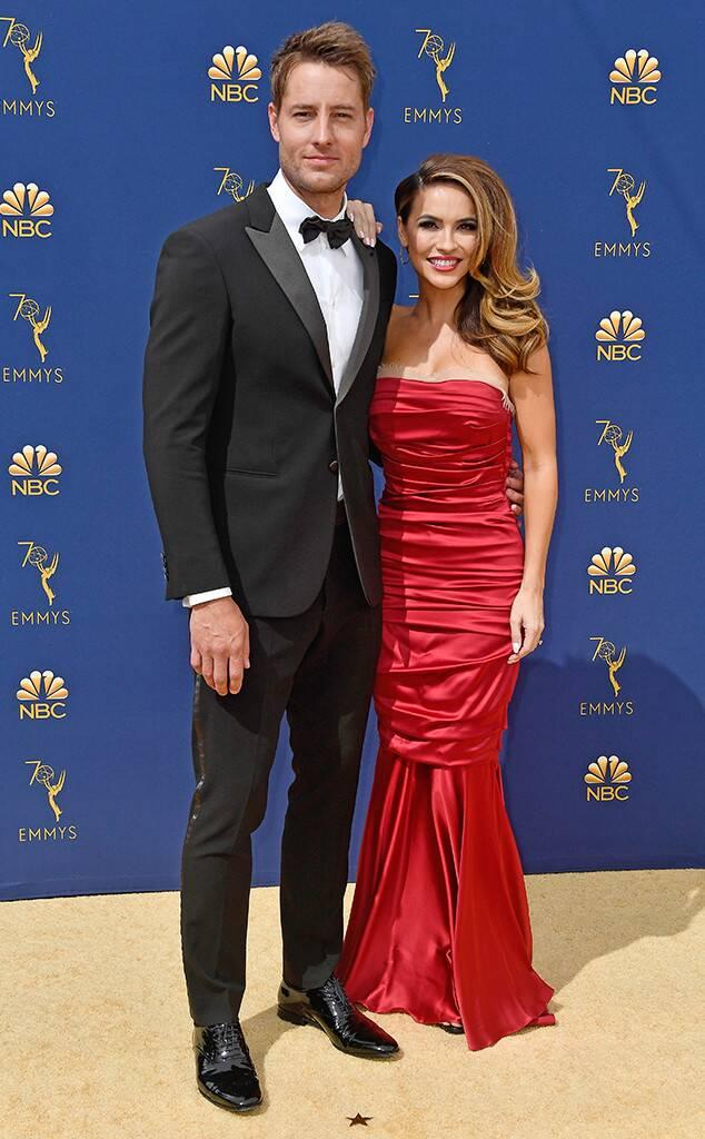 Justin Hartley, Chrishell Hartley, 2018 Emmys, 2018 Emmy Awards, Couples